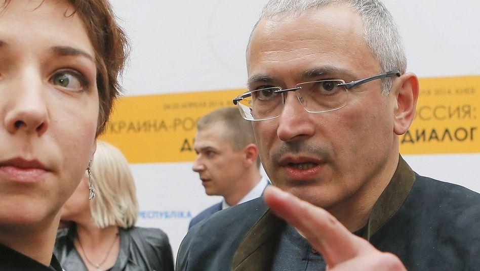"""Michail Chodorkowski in Kiew: """"Mit Putins Politik nicht einverstanden"""""""