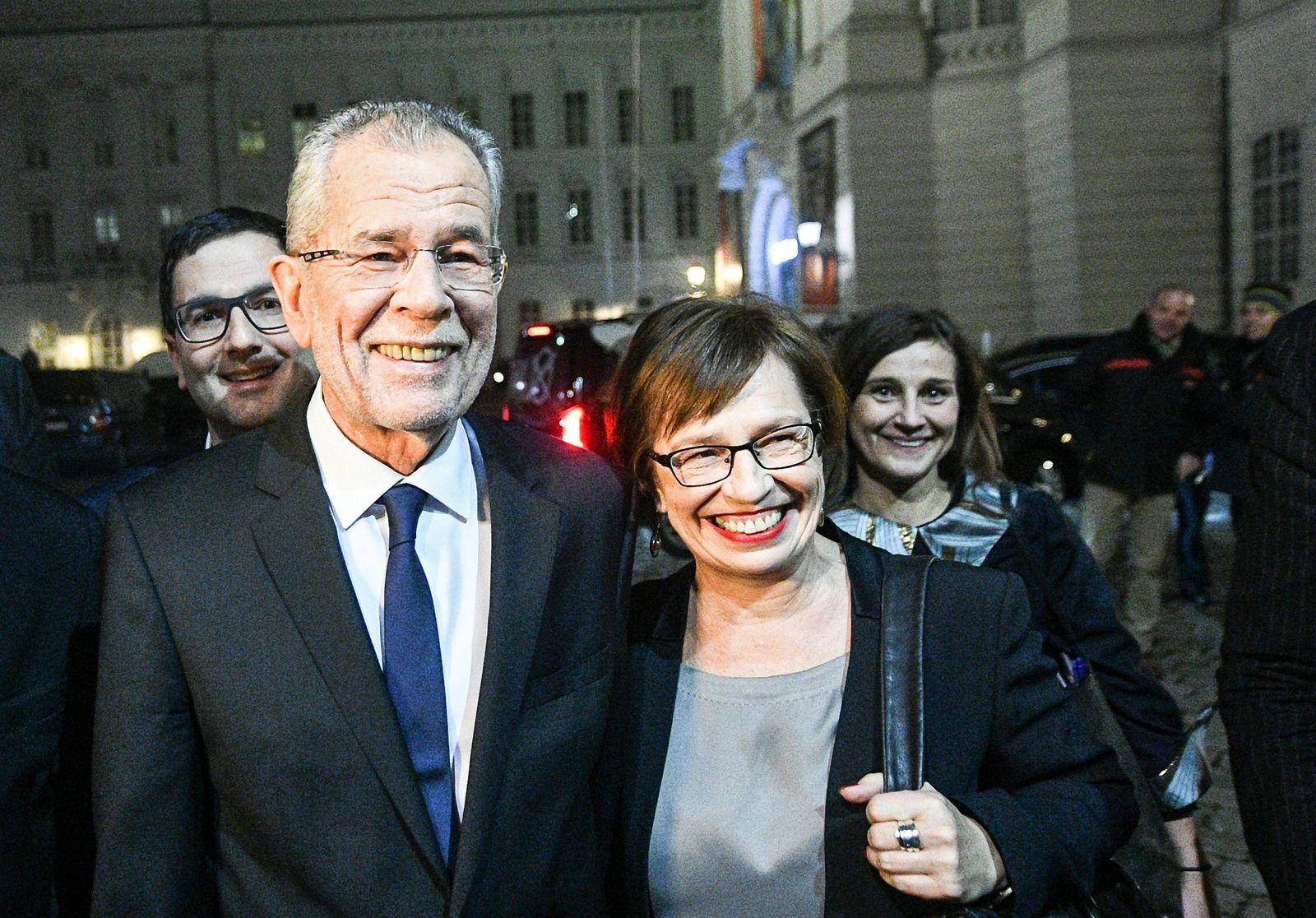 Österreich/ Wahl/ Alexander van der Bellen/ Doris Schmidauer