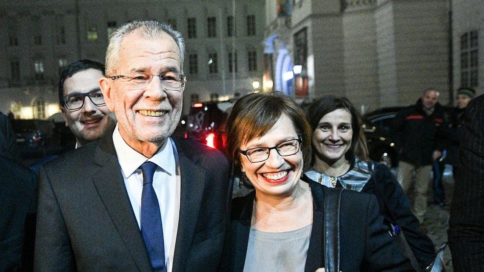 Alexander Van der Bellen und seine Frau Doris Schmidbauer