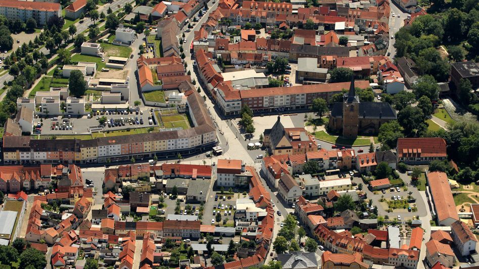 Luftbild von Sömmerda in Thüringen