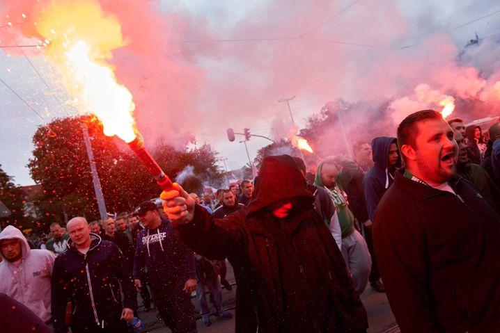 Zuwanderungsgegner in Danzig (Gdansk): Polnische Fahnen, dumpfe Parolen