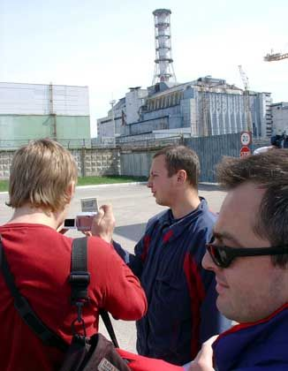 German Greens touring the Chernobyl exclusion zone.