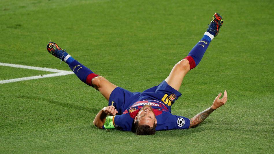Lionel Messi, mal am Boden. Aber das muss bei ihm nichts heißen
