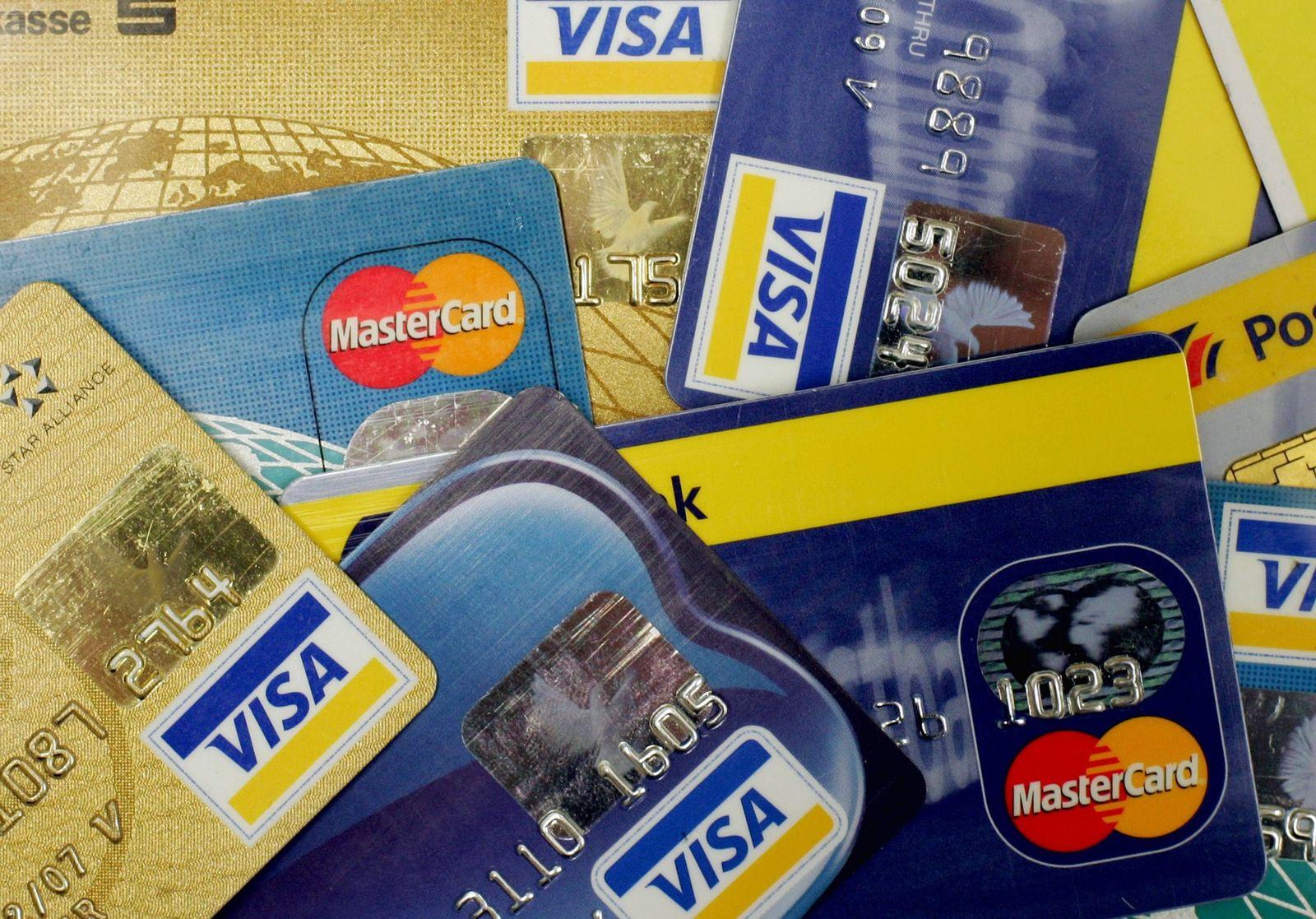 NICHT VERWENDEN Kreditkarten