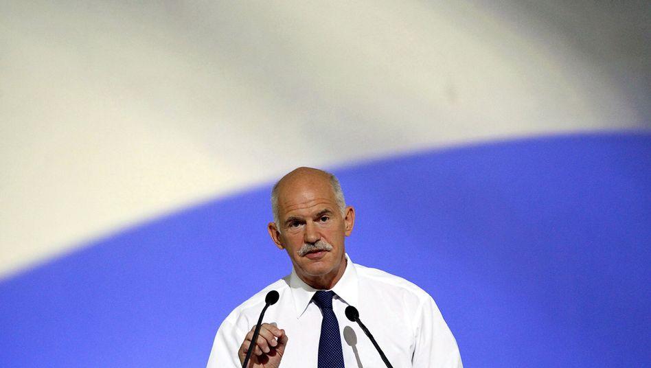 "Premier Papandreou (Archivaufnahme): ""Wir glauben an Entscheidung der Bürger"""