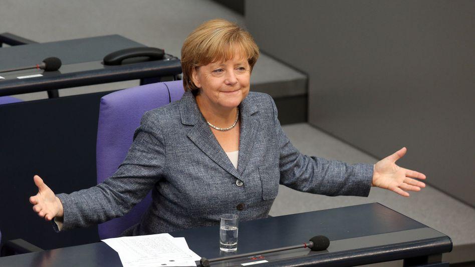 Kanzlerin Merkel im Bundestag: Akrobat - gar nicht schön