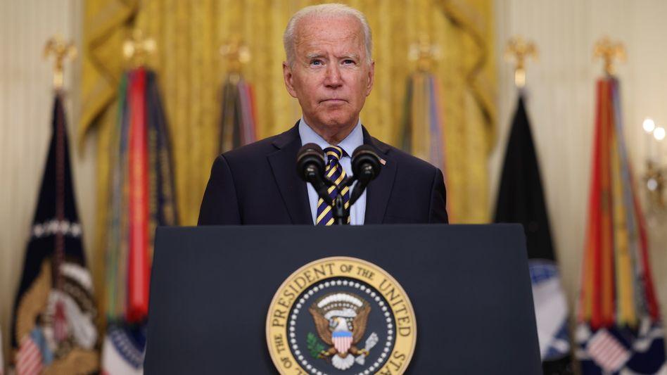 Die Afghanistan-Mission der USA sei erfüllt, so US-Präsident Biden