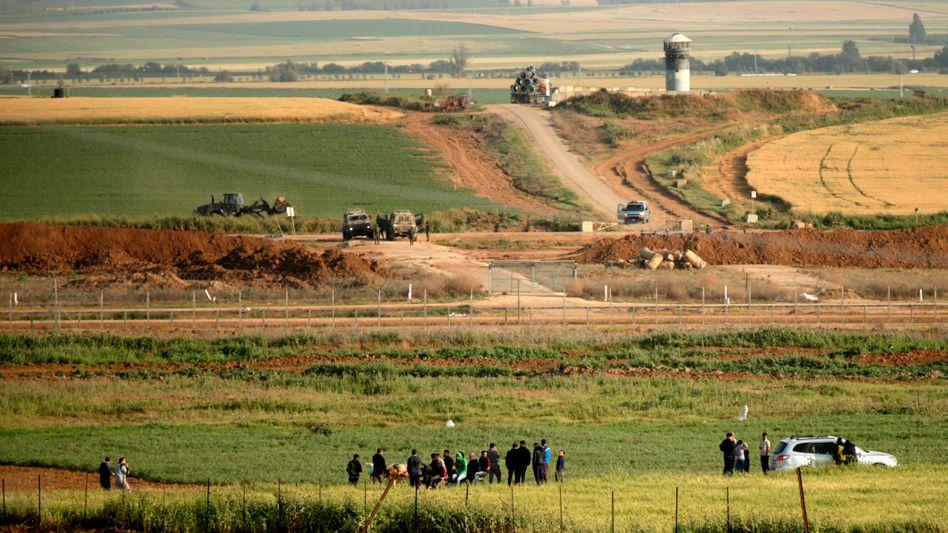 Grenzgebiet zwischen Israel und dem Gazastreifen