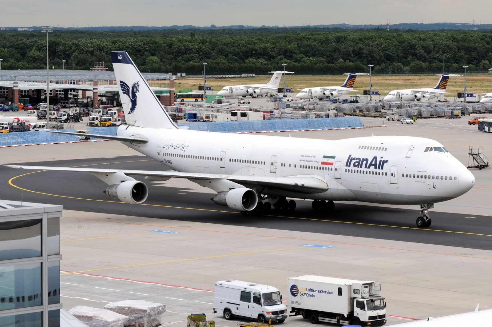 Iran Air cancels flights to Europe indefinitely as death toll of Coronavirus, COVID-19 rises, Frankfurt, Germany - 27 Jun 2008