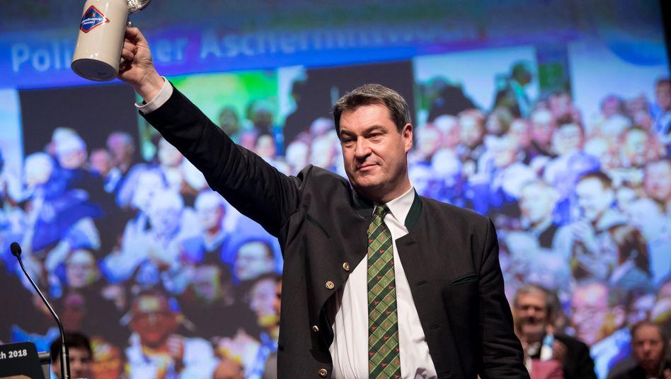 Markus Söder (im Februar beim politischen Aschermittwoch der CSU)