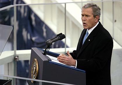 """Bushs Antrittsrede: """"Feuer der Freiheit"""""""