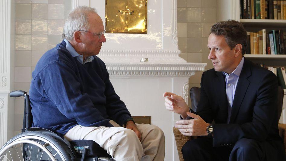 Schäuble mit Geithner in Munkmarsch auf Sylt: Krisendiplomatie im Urlaub