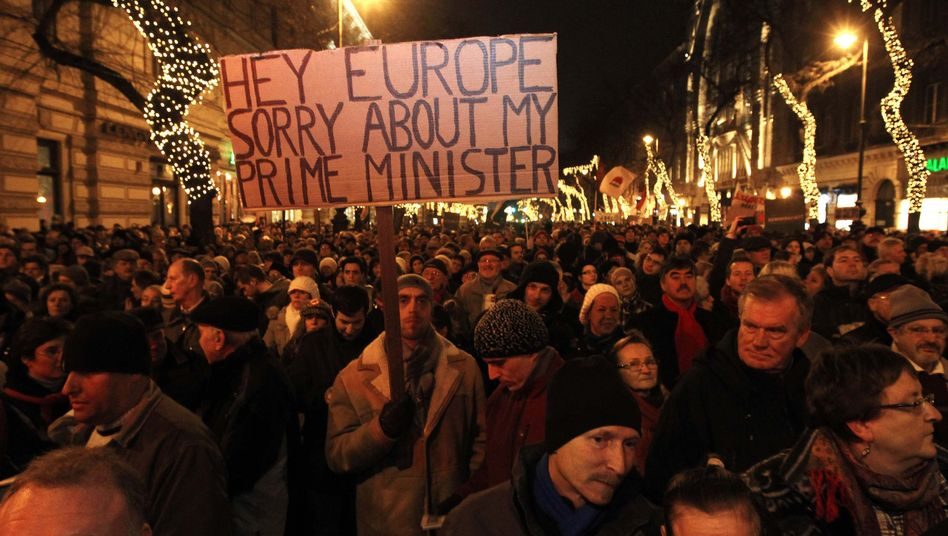 Earlier this year, demonstrators took to the streets of Budapest to protest against Prime Minister Viktor Orban's Fidesz party.