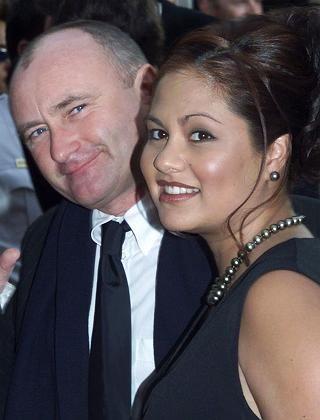 Phil Collins mit Frau Orianne (Aufnahme aus dem Jahr 2001)