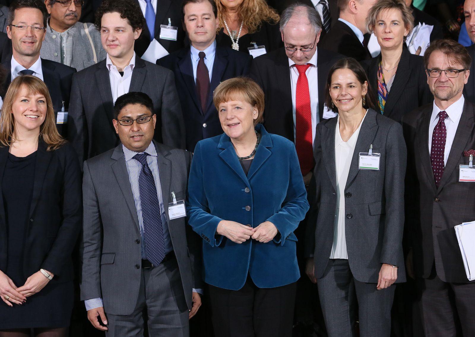 Internationales Deutschlandforum mit Merkel