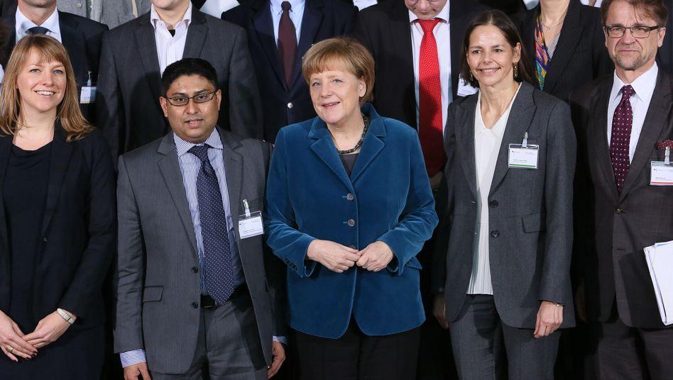 """Merkel mit Gästen im Kanzleramt: """"Was ist da für ein Mysterium am Werk?"""""""