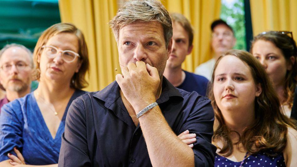 """Robert Habeck bei der Wahlparty in Berlin: """"Fantastisches Ergebnis"""""""
