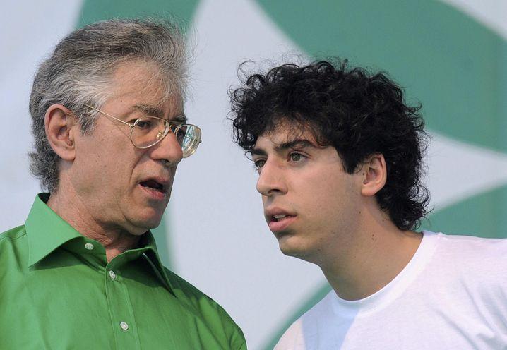 Umberto Bossi mit Sohn Renzo