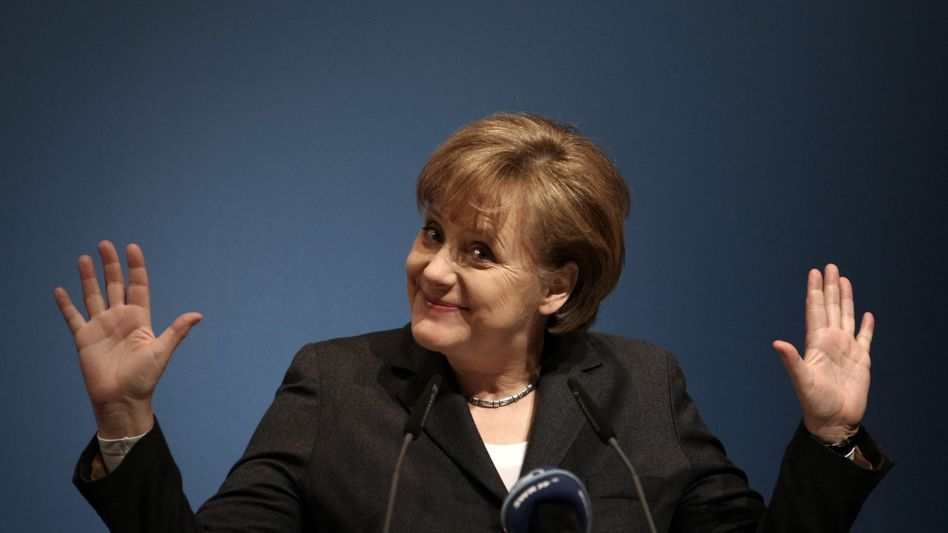 Chancellor Angela Merkel says there's no going back to the beloved deutsche mark.