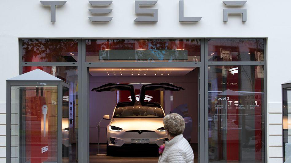 Tesla-Showroom in Berlin