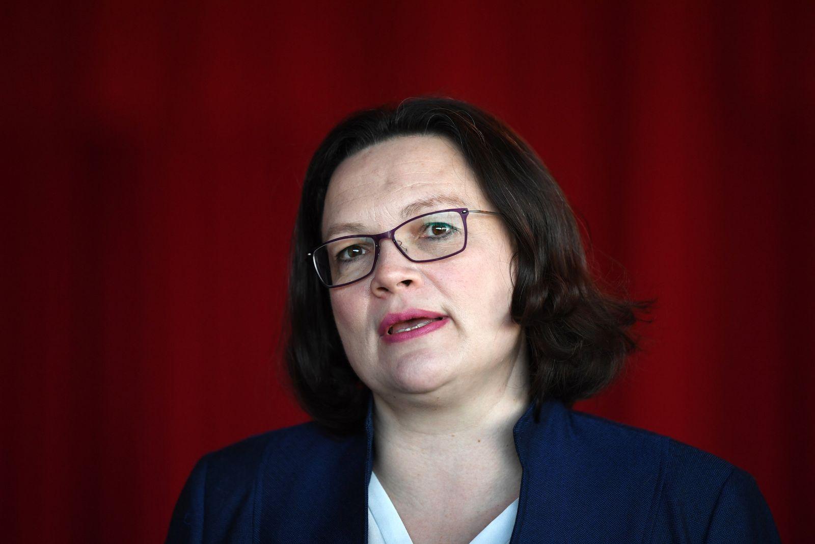 Andrea Nahles/ Regionalkonferenz der SPD