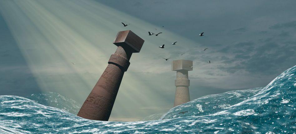 Geheimnisvoll: Illustrationen wie diese veranschaulichen immer neu den Sturz von Atlantis