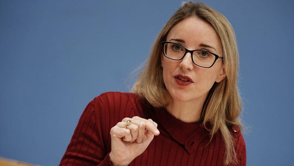 Ethikrat-Vorsitzende Buyx bei einer Pressekonferenz zum Thema »Sonderregelungen für Geimpfte?« im Februar