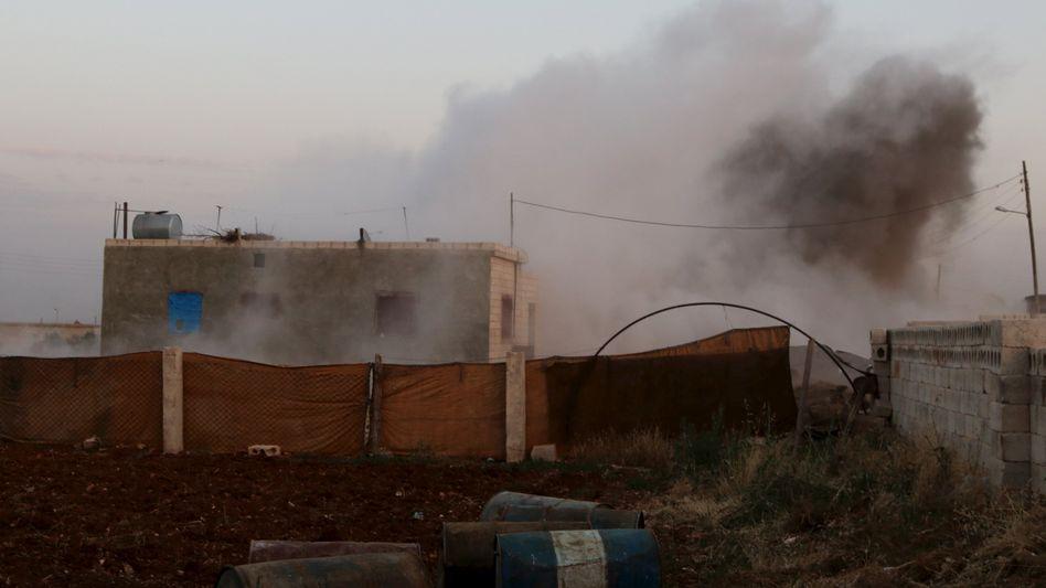 Rauch über Soran: Der IS hat die Stadt Anfang Juni eingenommen