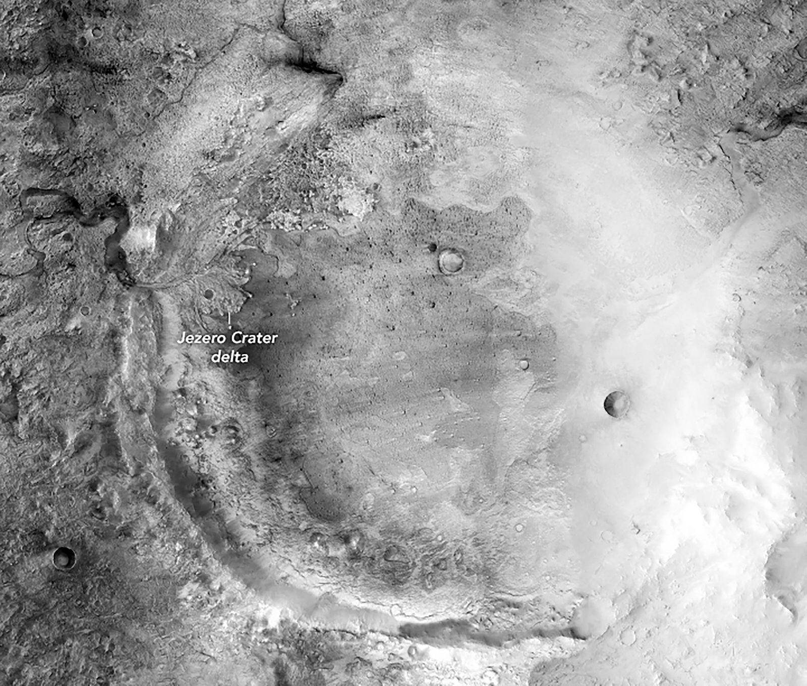 Jezero Crater image on Mars 2017