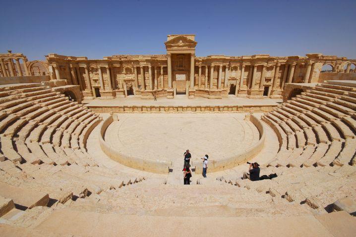 Das antike Theater von Palmyra im Jahr 2008