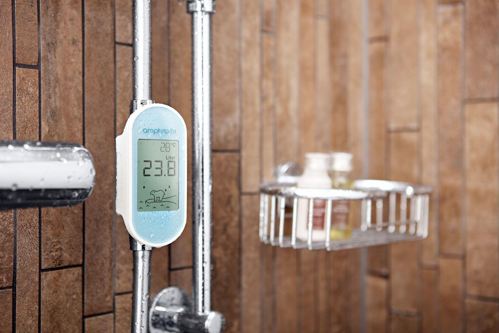 EINMALIGE VERWENDUNG Intelligente Duschanzeige zum Energiesparen