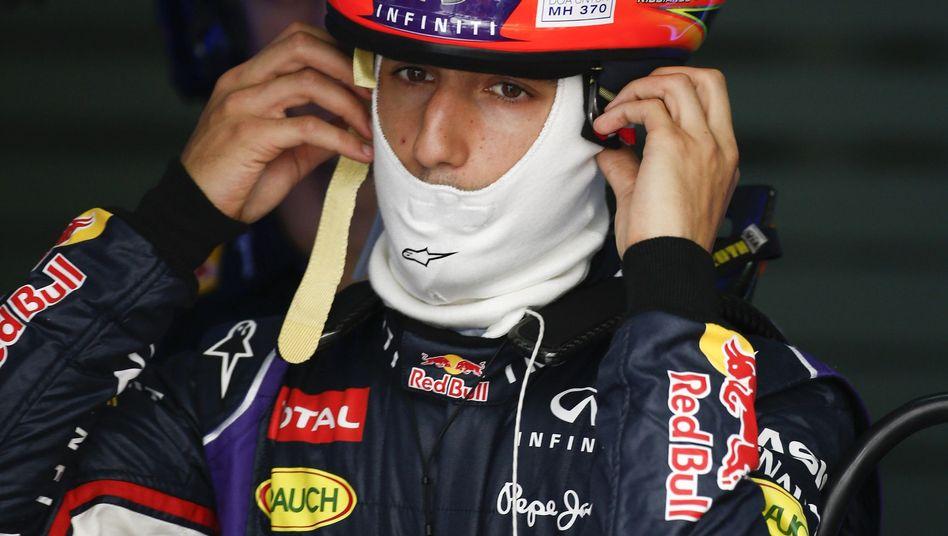Red-Bull-Fahrer Ricciardo: Zehn Positionen nach hinten