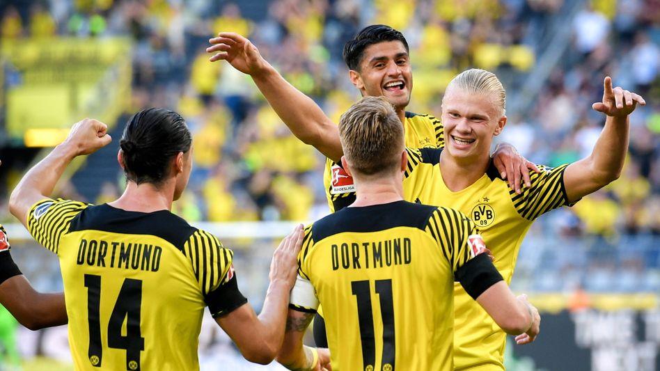 Freude pur bei den Spielern von Borussia Dortmund