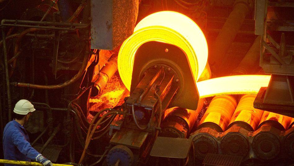 Warmwalzwerk von ArcelorMittal in Eisenhüttenstadt: Genügend Geld vorhanden