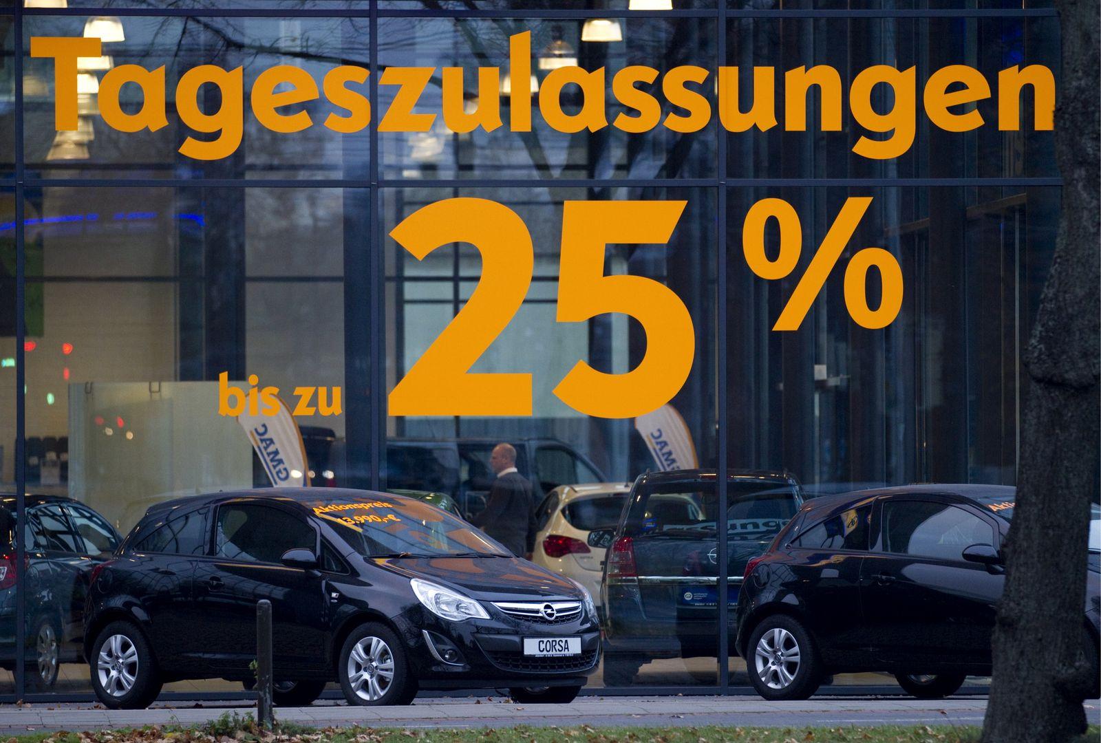 NICHT VERWENDEN Deutscher Automarkt/ Krise