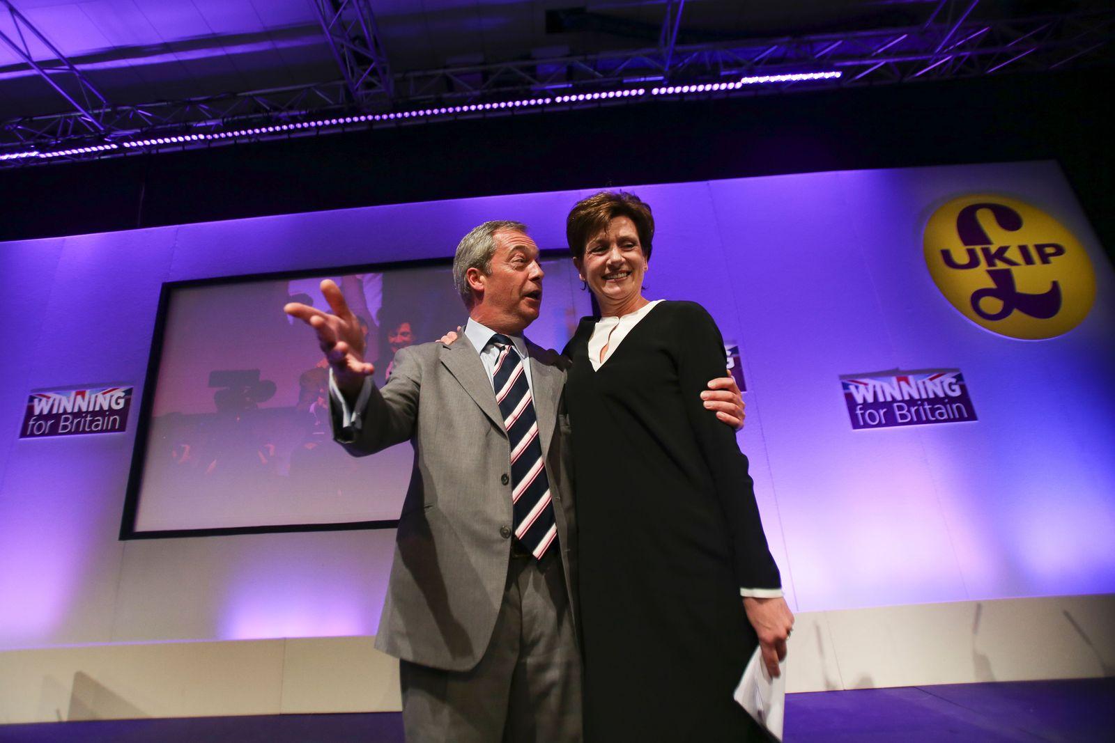 Farage & Diane James