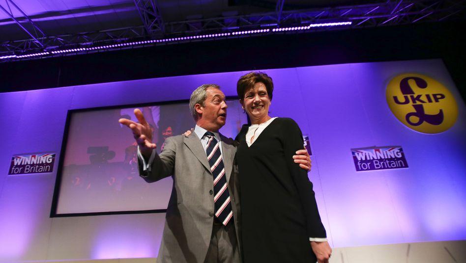 Nigel Farage und Diane James
