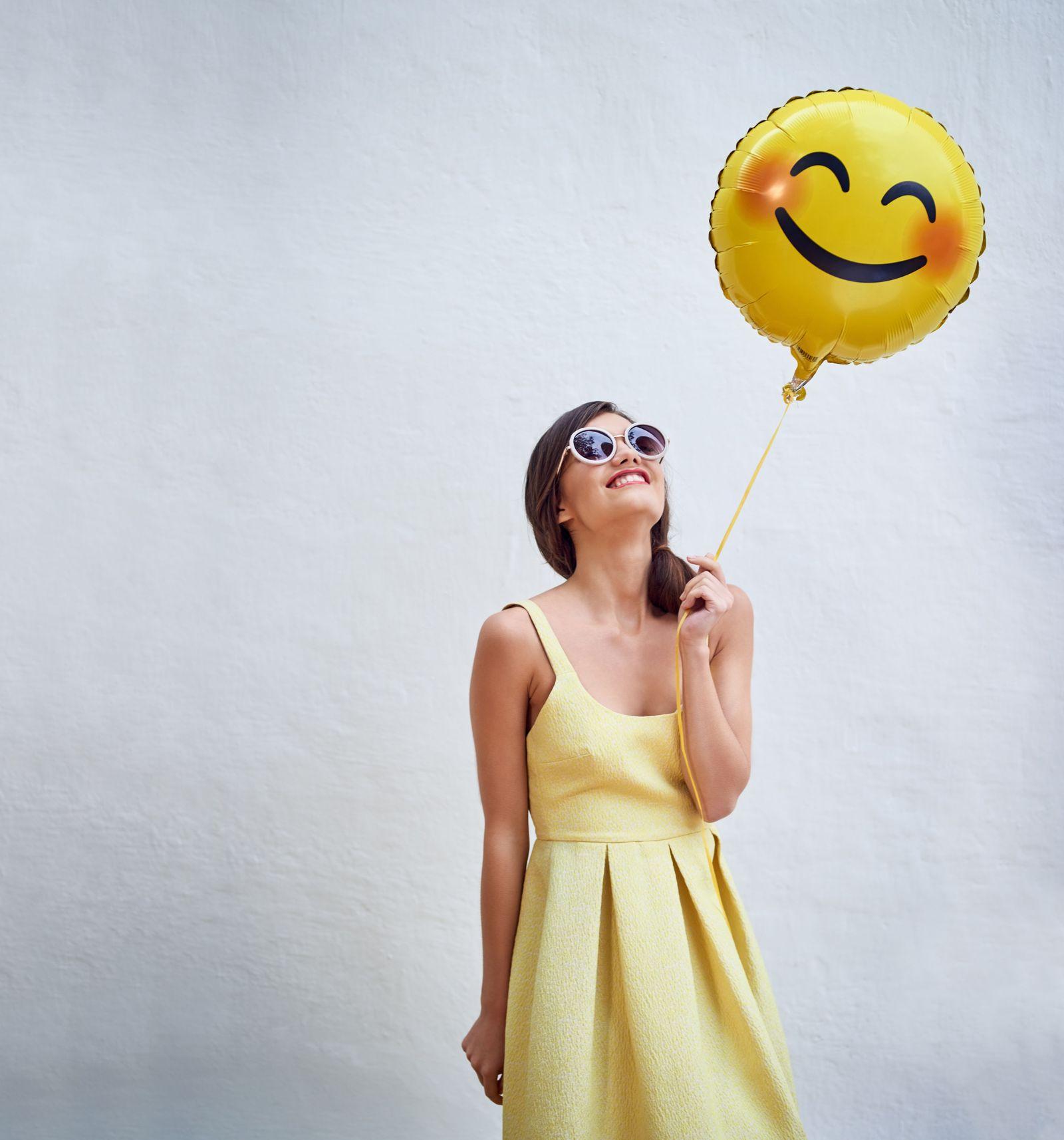 EINMALIGE VERWENDUNG Emoji Ballon