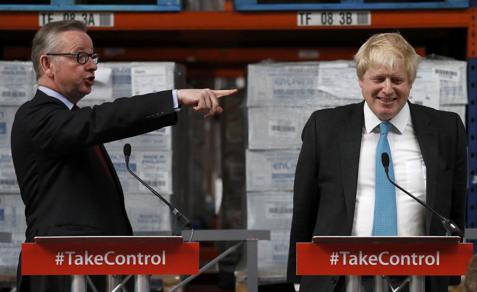 Boris Johnson Michael Gove/ BRITAIN-EU/