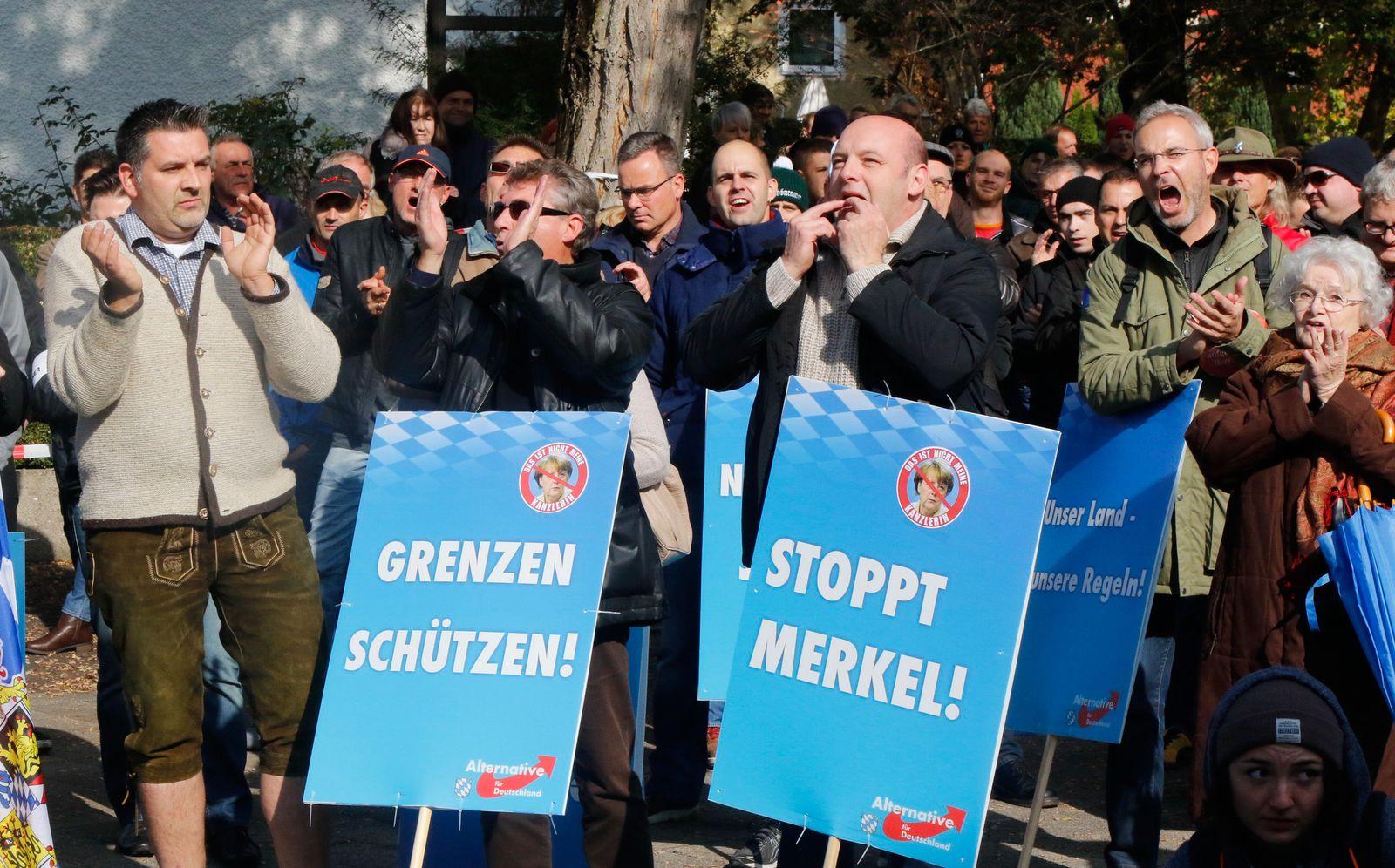 AfD/ Bayern/ Demonstranten