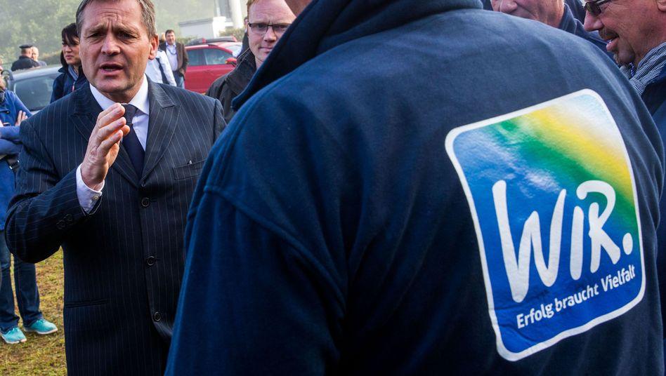 NPD-Fraktionsvorsitzender Pastörs: Besichtigung der Erstaufnahmeeinrichtung