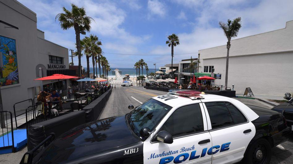 Polizeiwagen in Manhattan Beach, Kalifornien