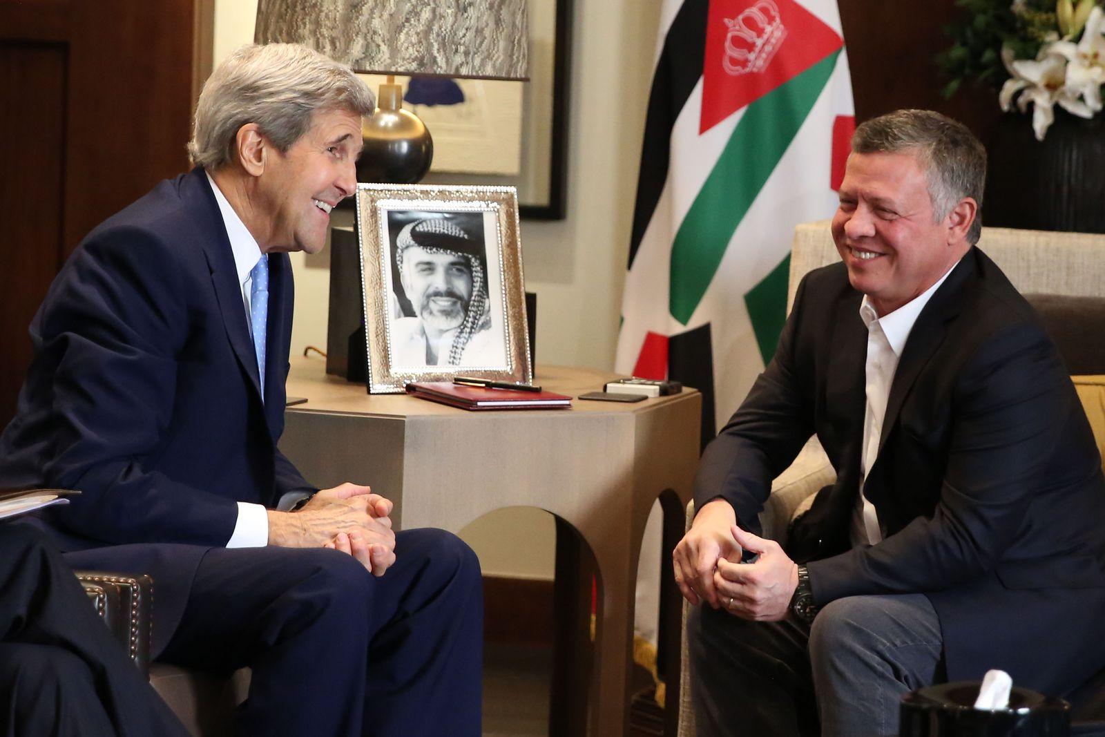 Abdullah II, John Kerry