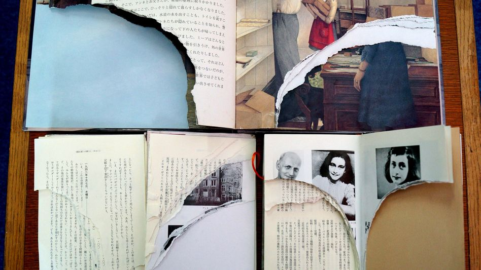 """Anne Franks """"Tagebuch"""": Dutzende Exemplare beschädigt"""