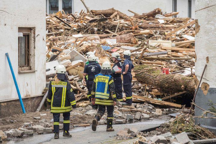 Das Dorf Schuld bei Bad Neuenahr wurde heftig von den Fluten getroffen