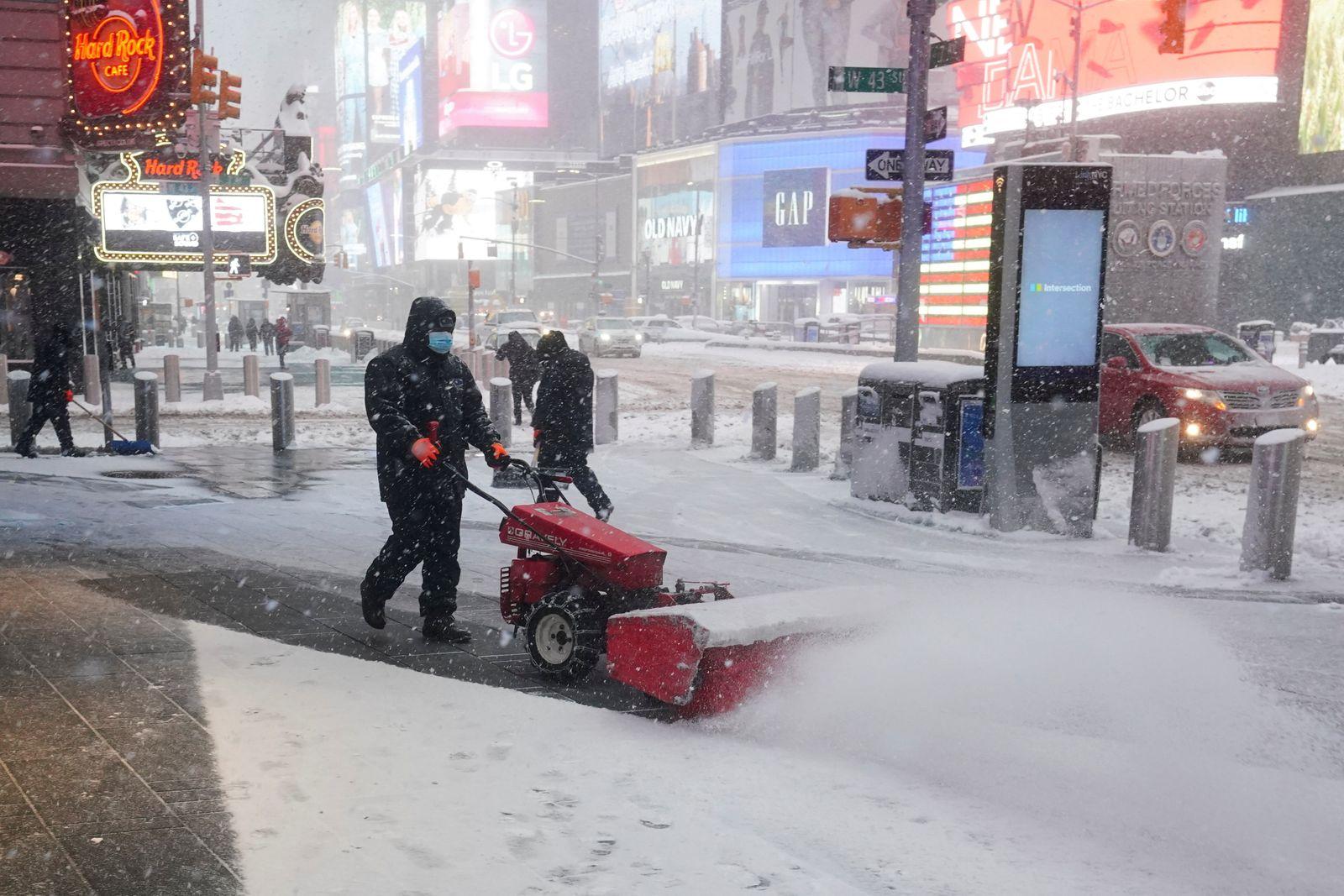 Snow storm in New York City