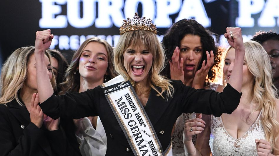 """So jubelt eine """"Miss Germany"""": Leonie Charlotte von Hase feiert ihre Wahl"""