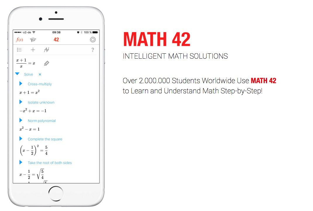 EINMALIGE VERWENDUNG Screenshots iPhone 6sâ / MATH 42