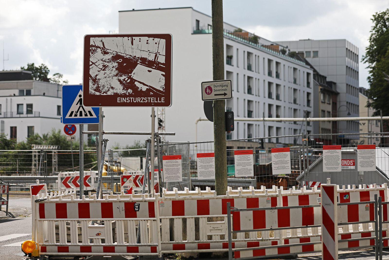 Einsturzstelle Stadtarchiv in Köln