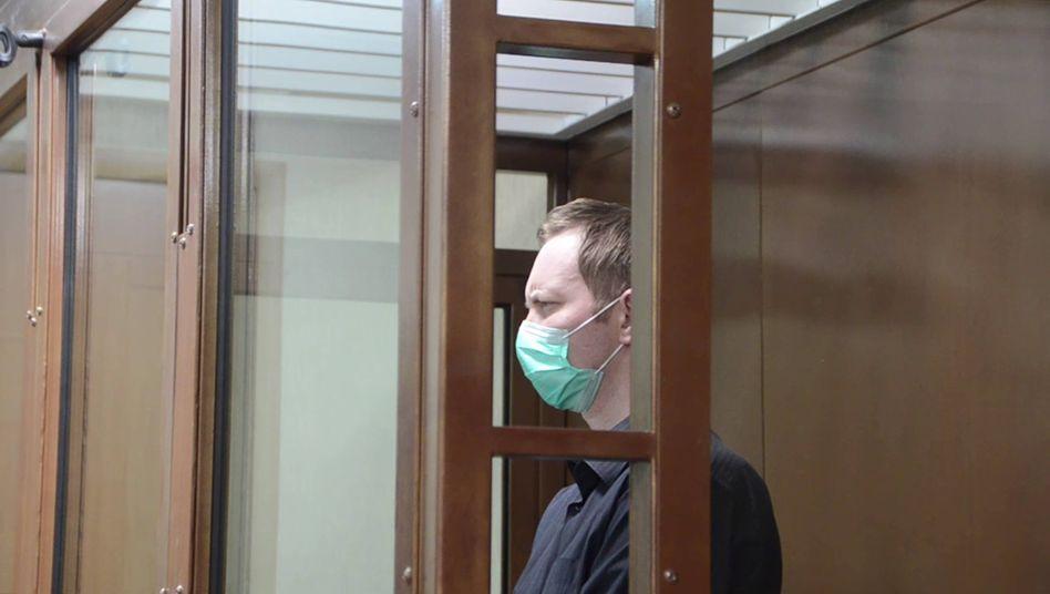 Der Angeklagte Juri Jeschtschenko bei seiner Anhörung vor Gericht